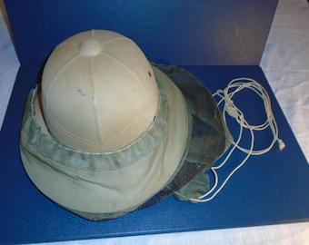 Vintage Beekeepers hat. Pith helmet .  Pith.  Beekeeping . bee keeping. Bee keepers hat.
