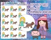 Dog Walk Sticker, Walk the Dog Sticker, Pet Planner Sticker, Hand Drawn Stickers - 335