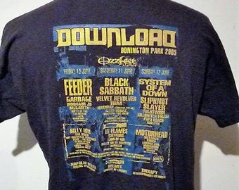 Download Donington Park 2005 vintage Ozzfest T-Shirt, size (L)