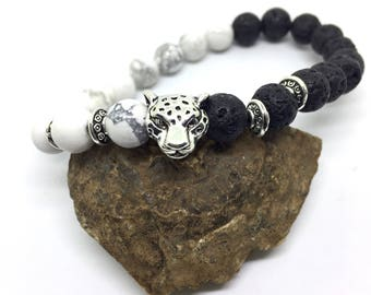 Pearl set, 27 parts, lava stone, natural stone, Leo