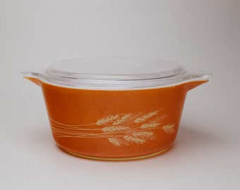 Pyrex Autumn Harvest Orange 1.5L Casserole with Lid (474-B)