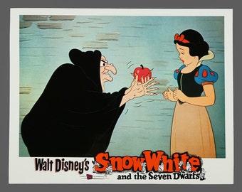 1937 Film Snow White and the Seven Dwarfs Print Poster 11 x 14 Walt Disney Vintage