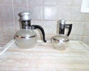 set of 2 Vintage coffee carafe