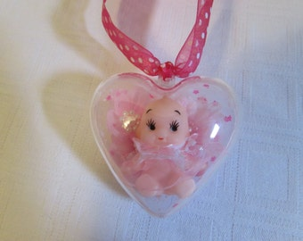 BALL Shape Heart with a Kewpie Doll