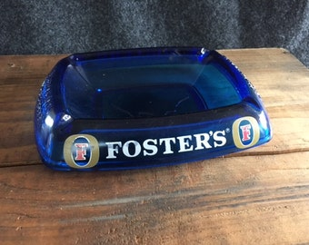 Vintage Fosters Beer glass ashtray