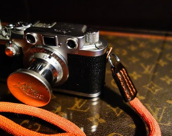 Camera Strap, Braided Silk and Shell Cordovan