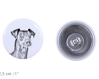 Earrings with a dog - Manchester terrier