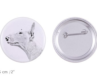 Buttons with a dog - Bull Terrier