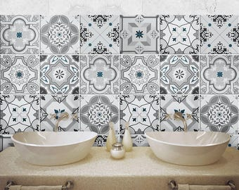 """PS00095 """"Damasco"""" Pvc tiles for bathroom tiles and kitchen Ceramic decorations various sizes"""