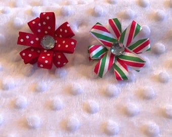Christmas Flower Bow Set