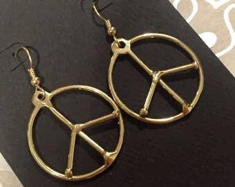 Peace Earrings: Bronze