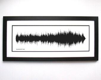 Summertime - Art Print, Framed Print, Canvas - Sound Wave Art