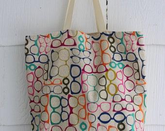 Multicolor // Glasses // Tote Bag