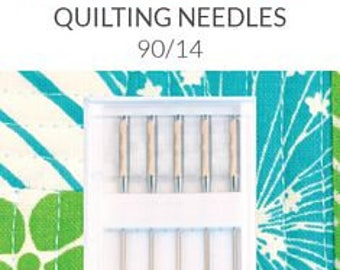Quilting Needles - Groz-Beckert - 90/14 - The fine point allows for stitching though multiple layers. For use with medium or thick batting.