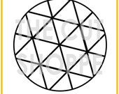 The Geo Globe cut file is a large circle design, that can be used on your scrapbooking and papercrafting projects.