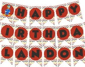 Banner | Mickey Roadster Racers | Print or Digital | Birthday Party | Customizable | with Name