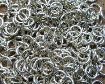 Sterling Silver Saw Cut Open JUMP RINGS 3.75mm ID, 18 gauge/1mm wire - 100 rings
