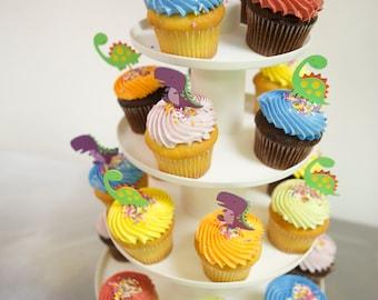 Dinosaur Cupcake Toppers • T Rex Cake Topper • Stegosaurus Cupcake Topper • Dinosaur Party Decorations • Dinosaur Cake Topper • Dino Cake