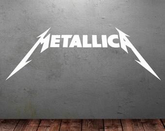 Metallica Wall Art Sticker Music Decal Heavy Metal Vinyl Mural Wall Sticker T20