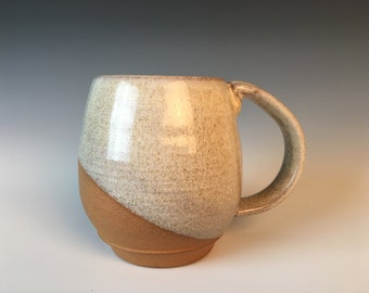 Northwest Mug, Speckled White glaze on Red clay