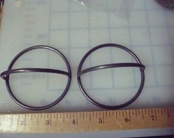 """2, Vintage Macrame Rings, 3"""" Rings with Top Ring, Macrame Rings, Macrame Supplies, Vintage Macrame Supplies"""