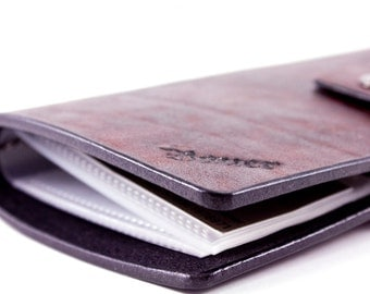 Leather Card Holder- Creadit Card Organiser-Holder with clear plastic windows