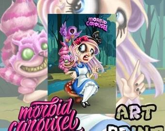 Alice in Zombieland A4 Art Print