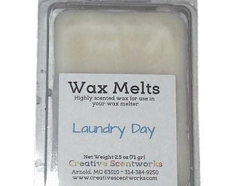 Laundry Day Scented Wax Melts, Wax Cubes, Wax Tart, Wickless Candle, Melting Wax, Wax Melt, Scent Bar, Scent Cube, Wax Bar