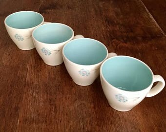 Taylor Smith and Taylor Boutonnière Tea and Coffee Cups 4 Cups
