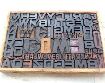50% discount Collage 89 Vintage Letterpress Welcome Wood Type All Letter in Mix size & fonts for decoration, craft and many other use.be-315