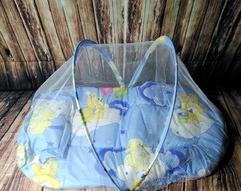 Baby Boys Fluffy Mattress And Pillow Baby Mosquito Net Bed, Baby Bed, Baby Security Net, Baby Boys Bed, Mosquito Nets, Teddy Bear Bed