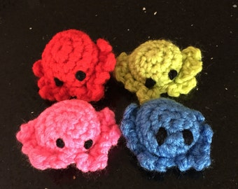 2 cat toys,  crab plushies, crab stuffed animals, party favor toys, toy crabs, small crochet toys, small stuffed animals, amigurumis