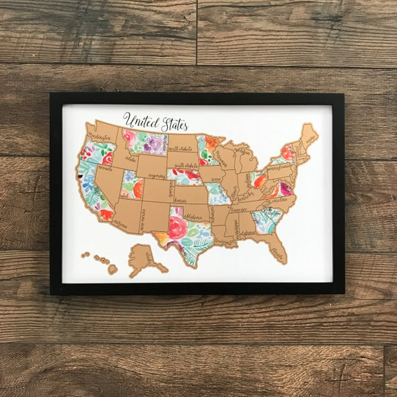 Rose Less Traveled - United States of America (USA US) Watercolor Scratch Off Map