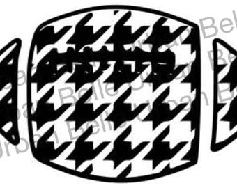 Houndstooth Football svg, dxf cutting file