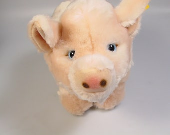 New Vintage Steiff Pig Stuffed animal, Cosy Friends plush animal lovey collectible toy retired  german