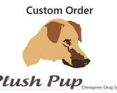 Donna's Custom order, Four Small Dog Beds 20x24x4  in Coral fabric