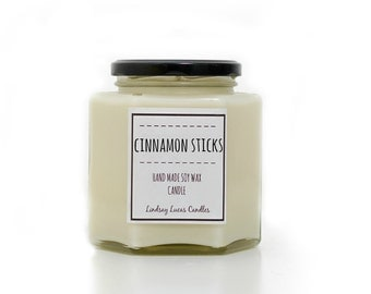 Cinnamon Sticks Scented Candle, Strong Scented Candle, Cinnamon Candle, Cinnamon Scent, Jar Candle, Strong Candle, Cinnamon Gift