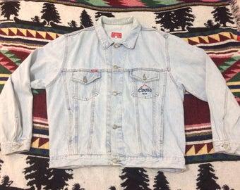 Vintage 90's Coors Beer Demin Jacket size XL