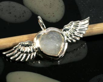 Moonstone in 925 sterling silver pendant - 4359