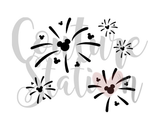 Disney Fireworks Iron On Image Or Printable Instant
