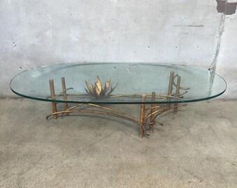 Mid Century Silas Seandel Brutalist Lotus Coffee Table (NZAF18)