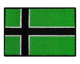 VINLAND VIKING FLAG Patch iron-on embroidered applique Type O Negative Norway Heritage