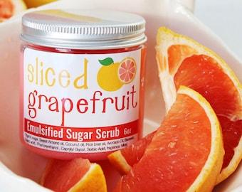 Grapefruit Sugar Scrub, Grapefruit Sugar Body Scrub, Exfoliating Scrub, Shower Scrub, Natural Skincare, Organic Scrubs, Mom gifts
