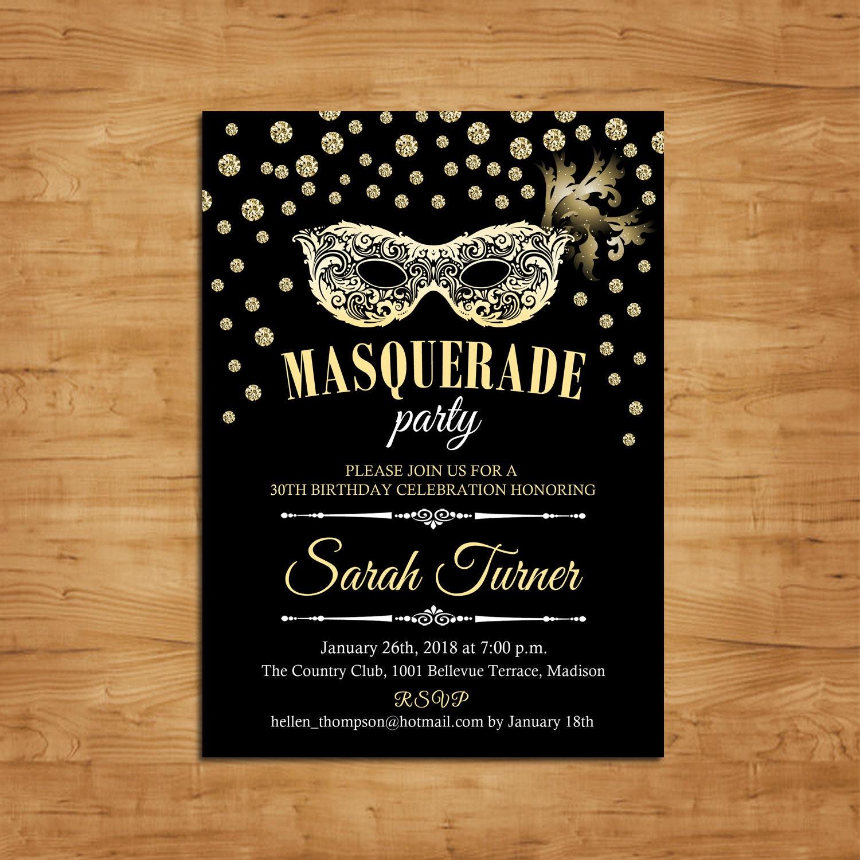 Masquerade invites – Masquerade Party Invitation Ideas