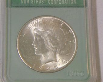 NTC MS65 1925 Peace Dollar