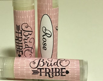 Bachelorette Party Personalized Lip Balms Bride Tribe