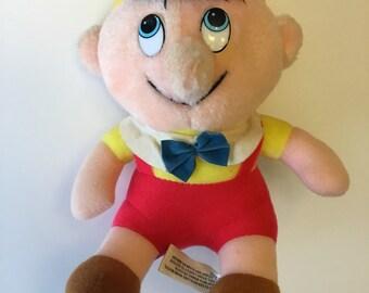 Walt Disney Productions Plush Pinocchio Made In Taiwan 1980's