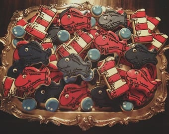 One Fish Two Fish Red Fish Blue Fish Cookies - ONE Dozen