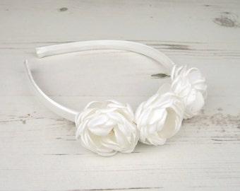 Flower Girl Crown - Flower Crown - Flower Aliceband - Bridesmaids - Flower Headband - Flower Girl Headband - Bridesmaid Party - Flower Girls