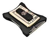 Black on Black, Front pocket wallet, Thin Wallet, The best wallet, best wallet for men, Money clip, Military Grade Wallet by BenchBuilt